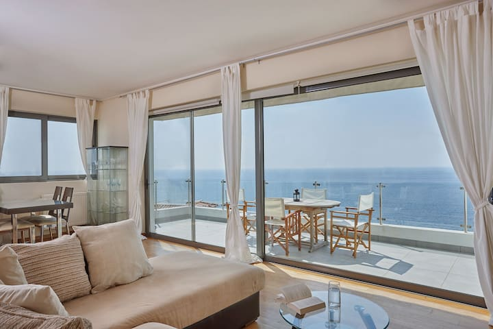 Elegant apartment amazing sea views - Saronida - Appartement