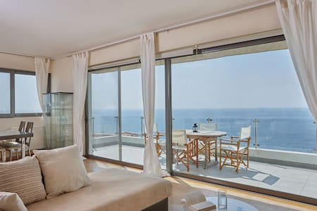 Elegant apartment amazing sea views - Saronida