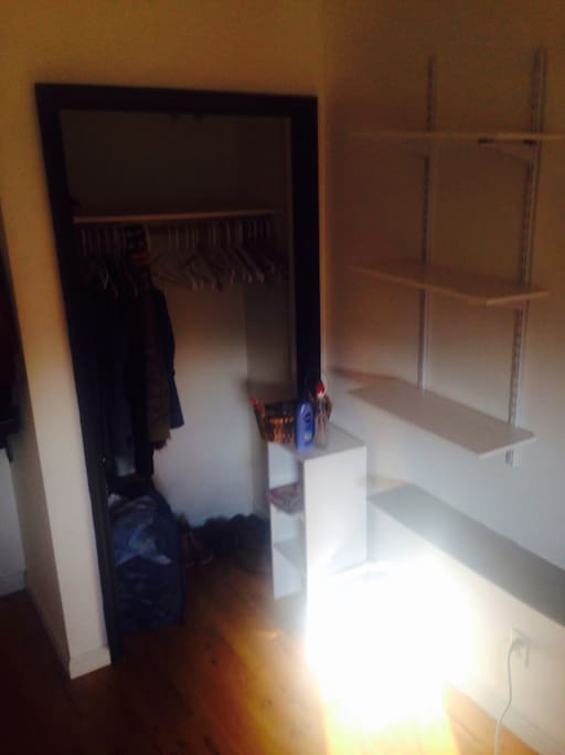 Closet and selves to use as you please