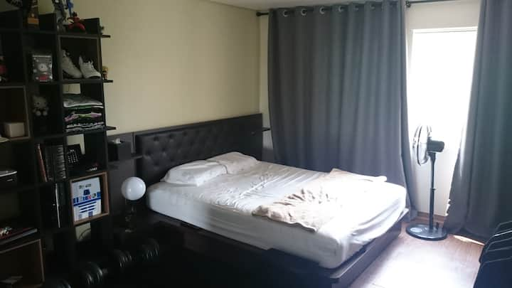 Huge Room w/ Huge Bed + Priv Bath Gangnam Guchung