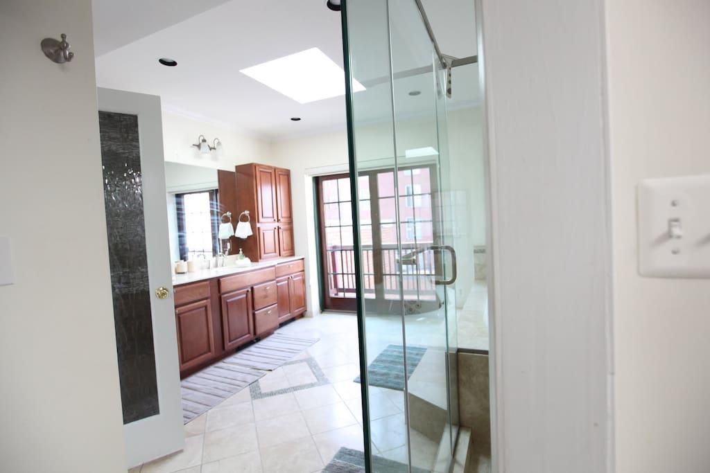 master bathroom upstairs