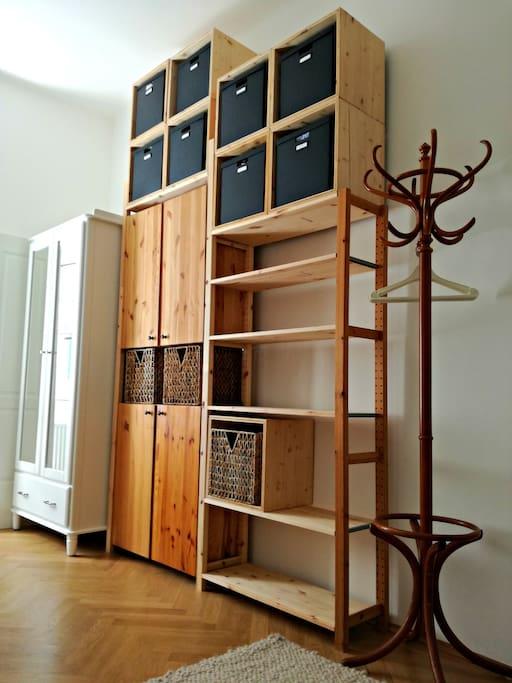 wardrobe, bedroom