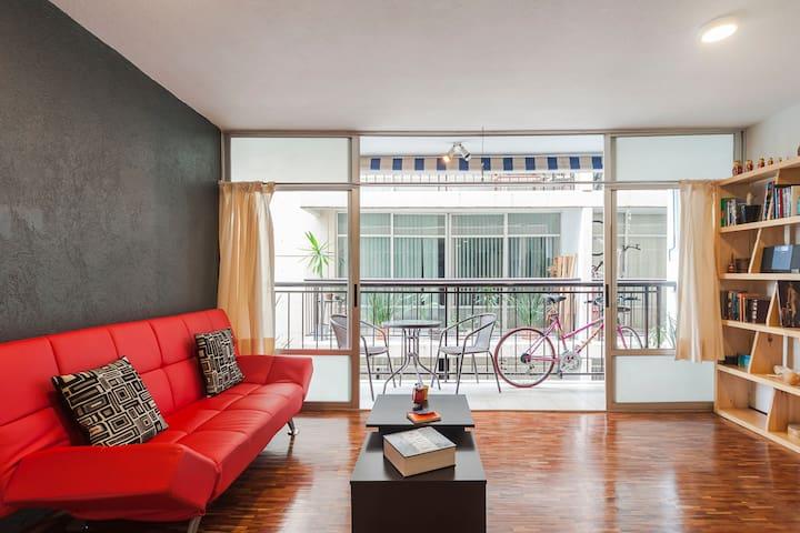Bello lugar cerca de la Condesa - Cidade do México - Apartamento