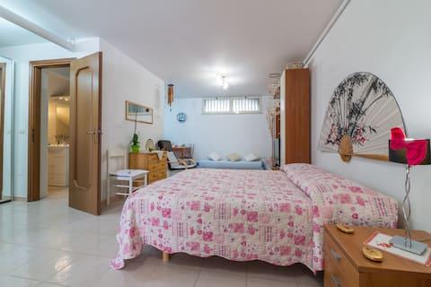 Neat basement studio near Cagliari airport