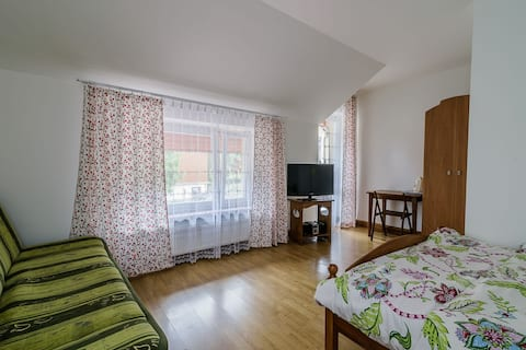 Cozy room with balcony, close to town center