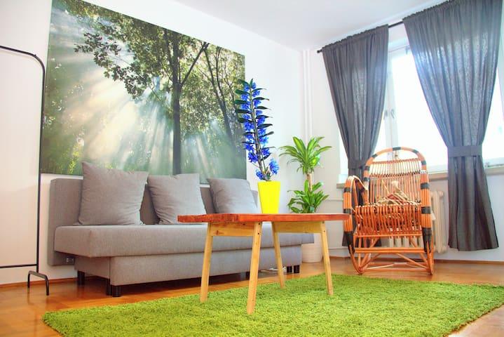 WARSAW CENTRAL- spacious PRIVATE ROOM with BALCONY - Warszawa - Apartamento