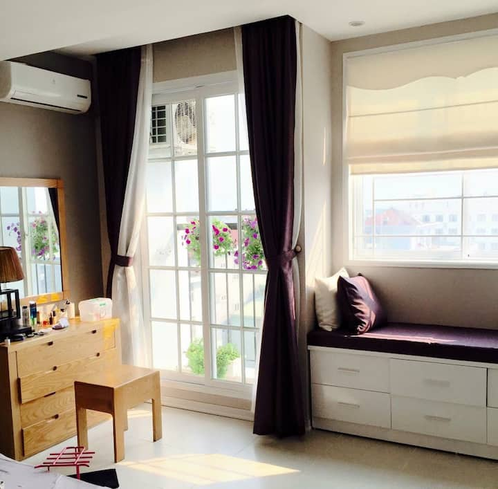 Pretty Two Bedrooms Apartment with River View in Center Hoa Binh city
