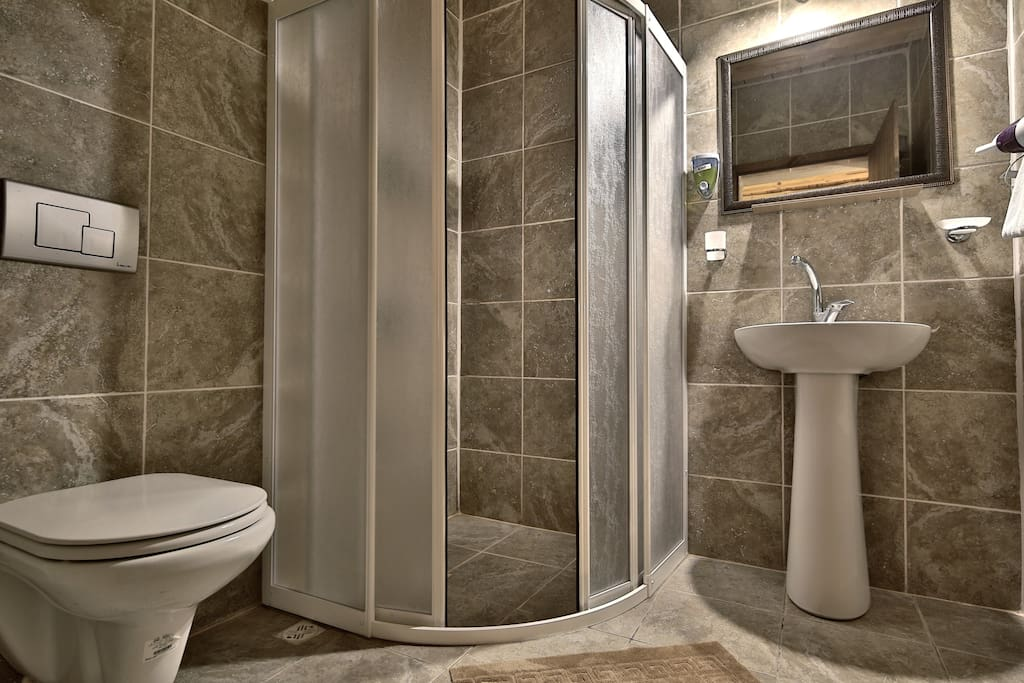 Amenities includes hair dryer, heated towel rail (winter months) and toiletries (shampoo, soap)