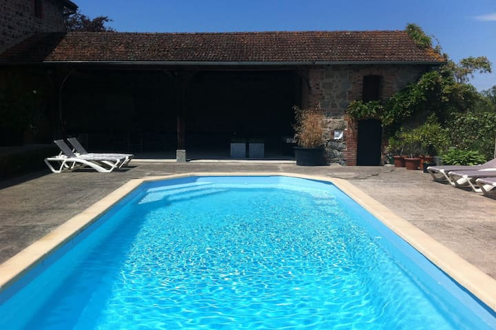 Attractive holiday home in castle with heated pool for 8 persons