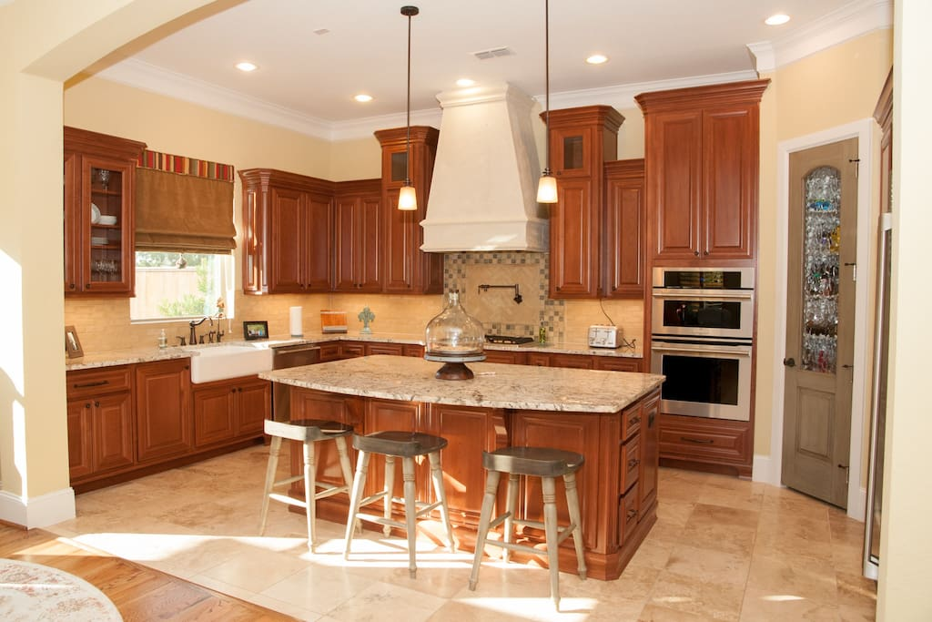 Large, inviting kitchen