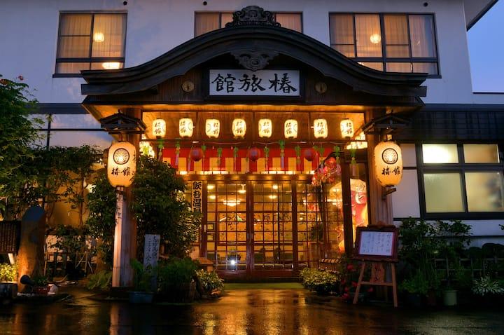 温泉旅館のツインルーム【シングルベッド】