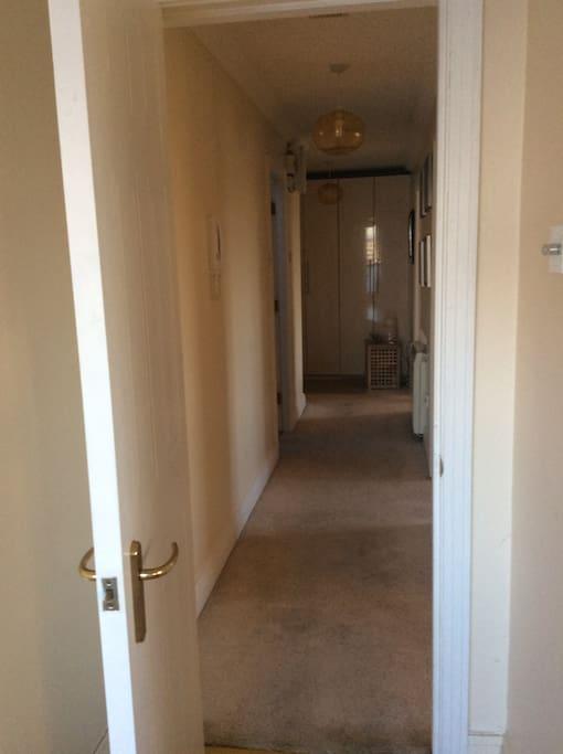 Spacious Hallway leading to bedrooms.