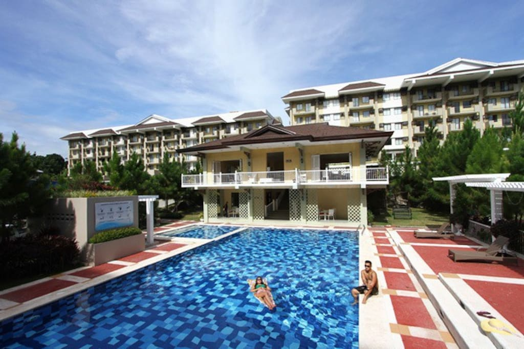 Camella community pool and multifunction hall area infront of Nottingham building