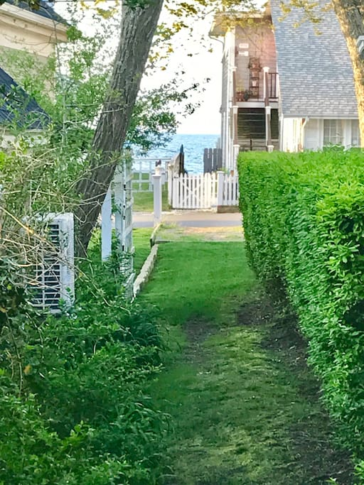 Garden pathway ~  deeded access to the waterfront