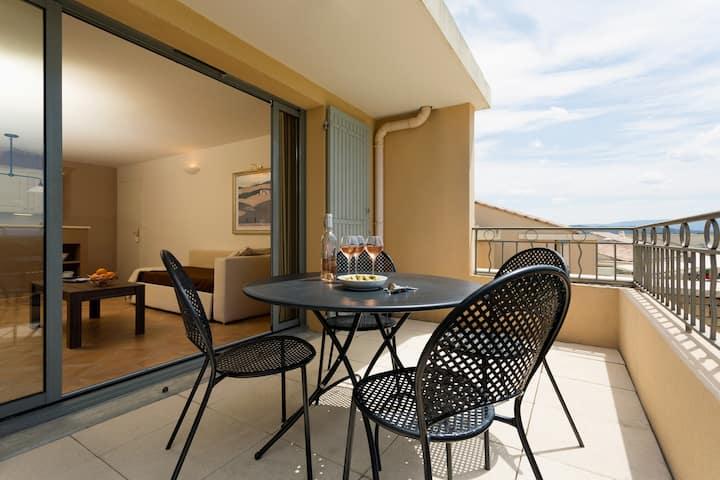 Appartement spacieux et lumineux 4p, accès piscine !
