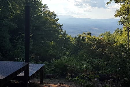 The High Land: Remote mtn camping platform w/ view - Morganton