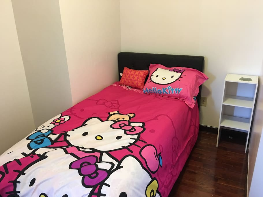 Cute hello kitty bed in your private room