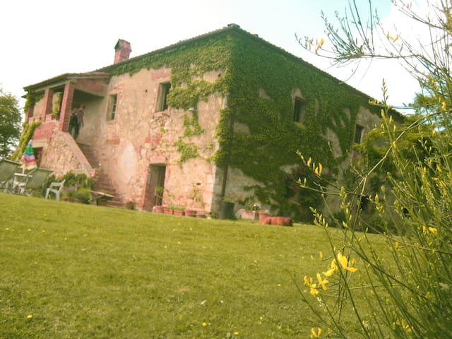 View of the Villa from the Orto (Vegetable Garden)