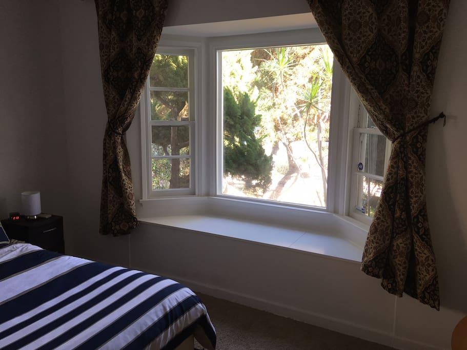 Beautiful scenery in large bay window
