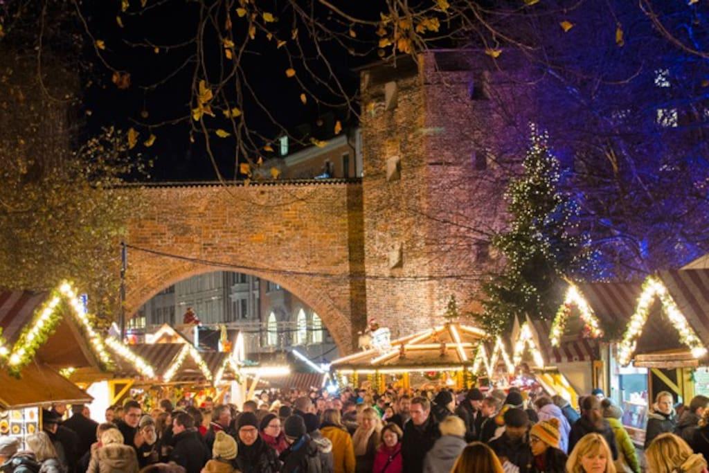 5 min to Sendlinger Tor Christmas market