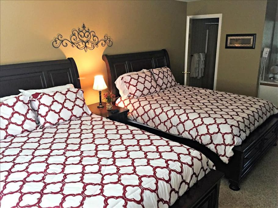 @nd Bedroom with two queen beds and adjoining bath