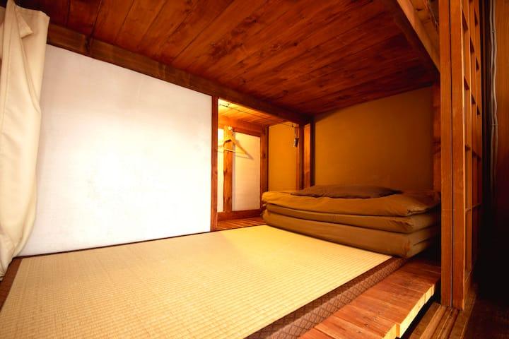 【包括清洁费・步行5分钟到地铁站】京都町家民宿 YULULU  男女混合共用双层床