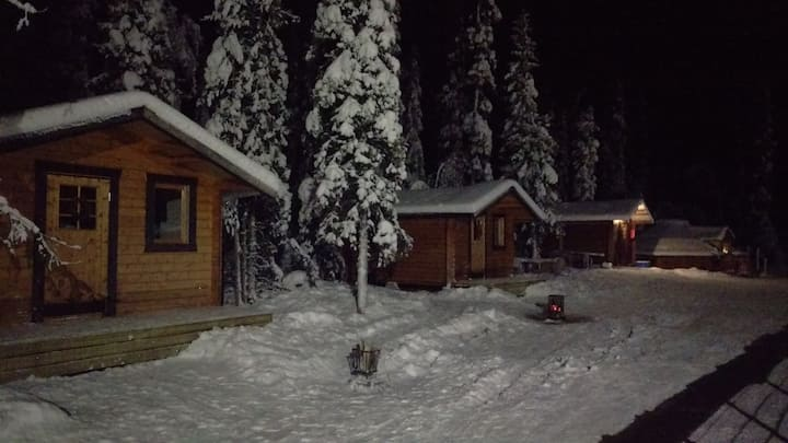 Cabins for rent on a sled dog kennel