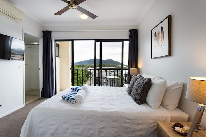 Master Bedroom with Ensuite, Balcony and walk-in robe.