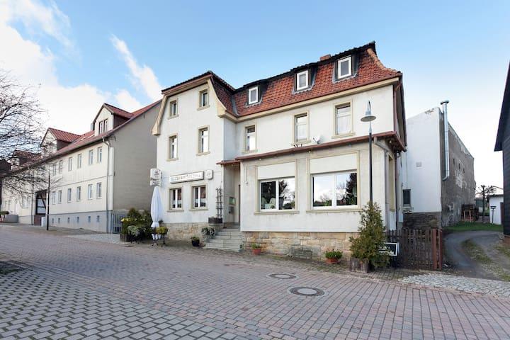 Acogedor apartamento de vacaciones en el primer piso cerca de Wernigerode en Harz