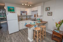 Your brand new kitchen has everything you could possibly need during your stay!