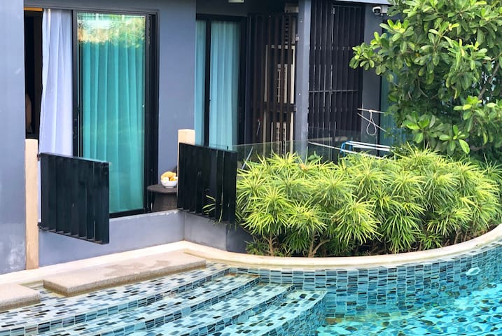 Family holidays in Aristo Condo, 2BR apartment ❤️ Surin beach (1 floor С)