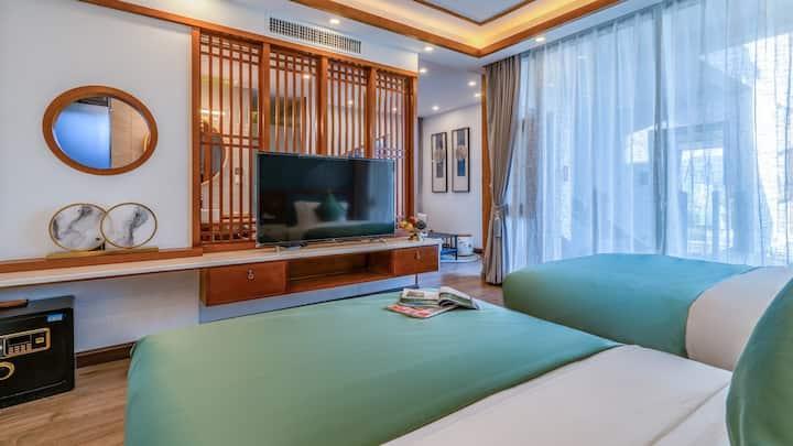 Lijiang Yuhua Shanjian Inn Boutique Twin bed room