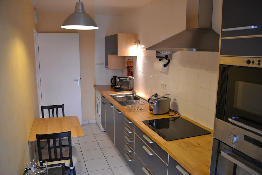 Fully equipped Kitchen with balcony