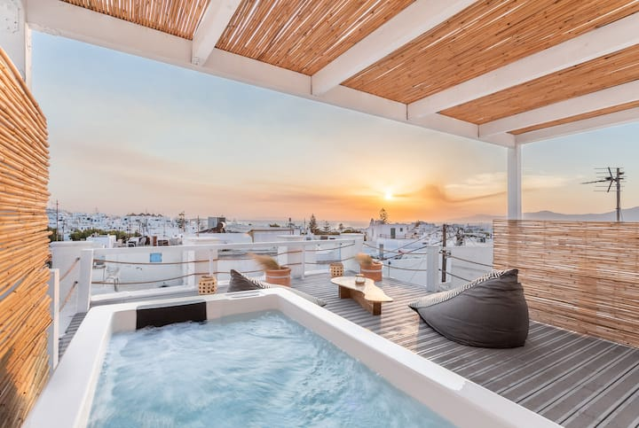Cosmo Luxe - 8 pax with Jacuzzi, Mykonos center