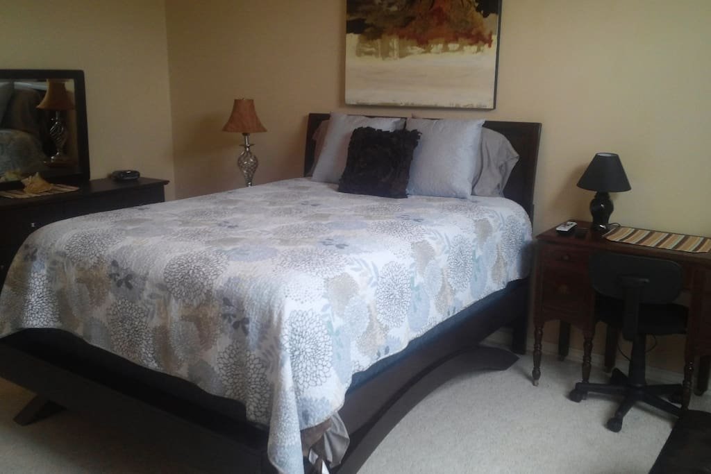 Master Bedroom, with sleeping for 4, double bath, and huge closet. Office Docking/Work station.