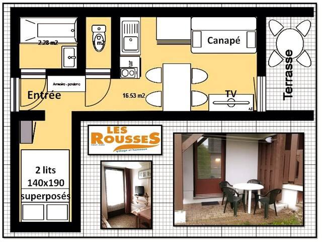 """Studio 20 m2 station """"Les Rousses"""" 4 adultes"""
