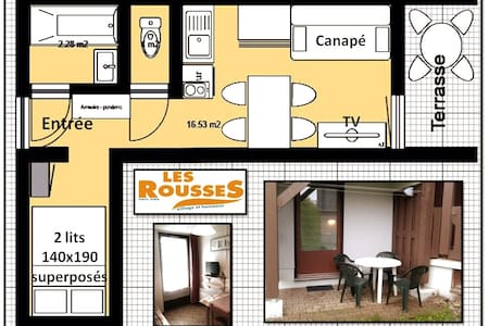 "Studio 20 m2 station ""Les Rousses"" 4 adultes"