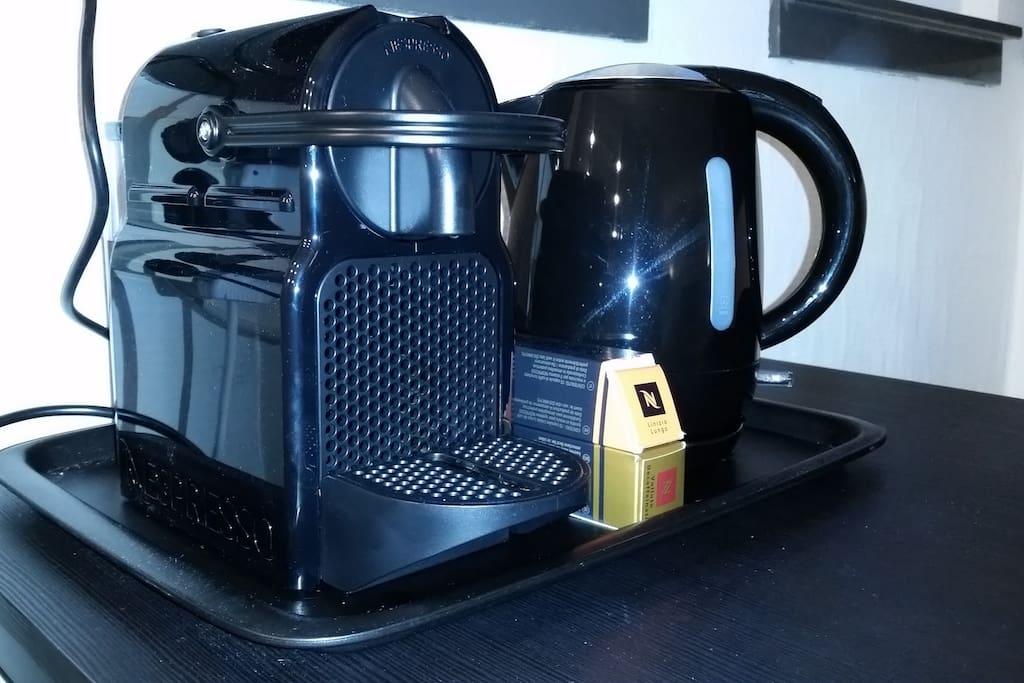 Coffee (Nespresso) and tea facilities