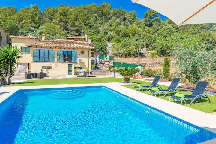 SA TANCA (MANCORINA) - Villa with private pool in Mancor de la Vall. Free WiFi