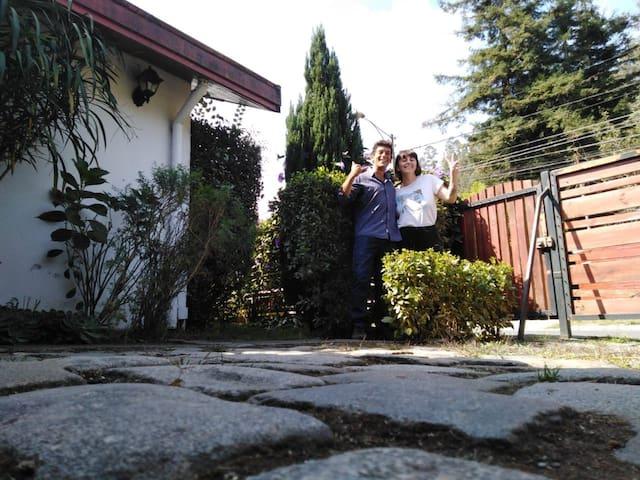 Habitación doble en casa familiar