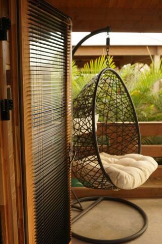 Loungen op de veranda
