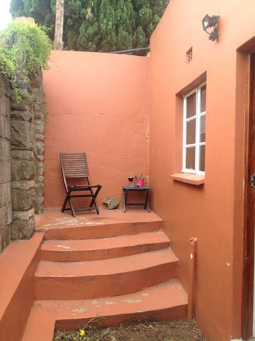Private entrance to Villetta....perfect for sunset drink...smoking allowed here.