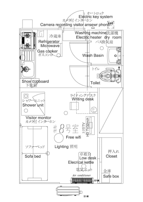 Room #8 layout