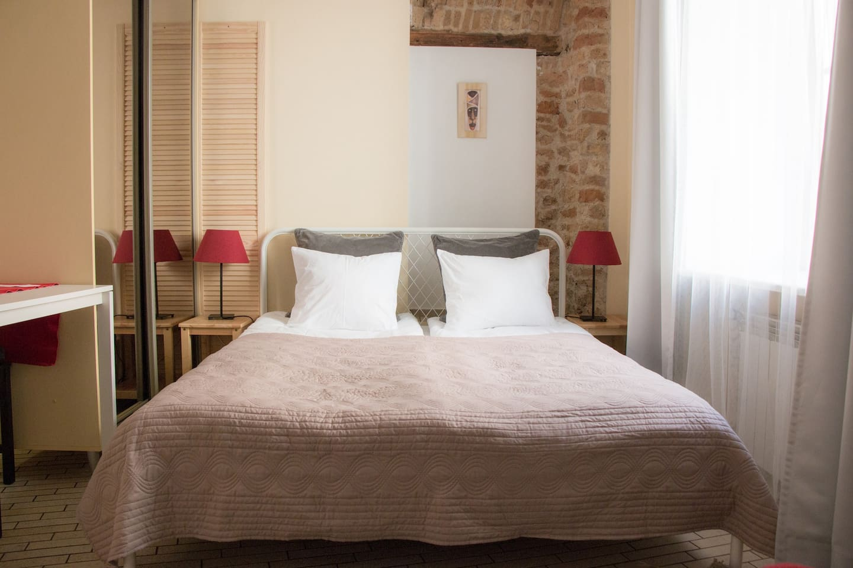 Bed area in Rotuses Studio