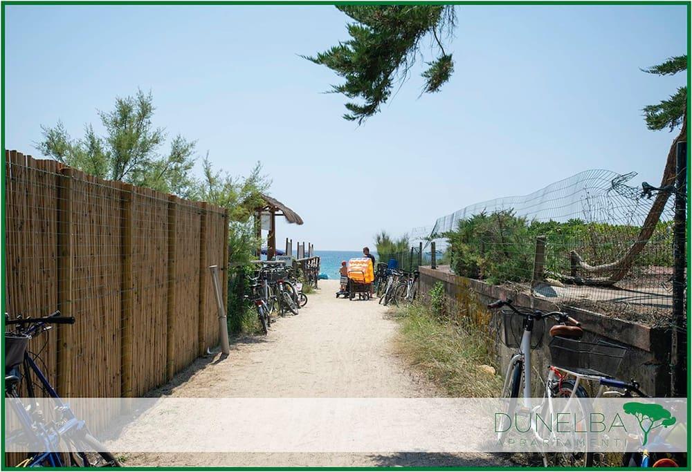 sentierino che conduce alla spiaggia