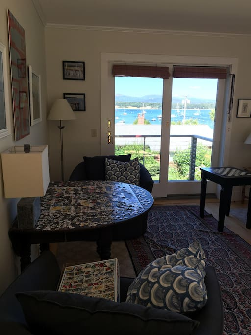 Living room - water view and games table