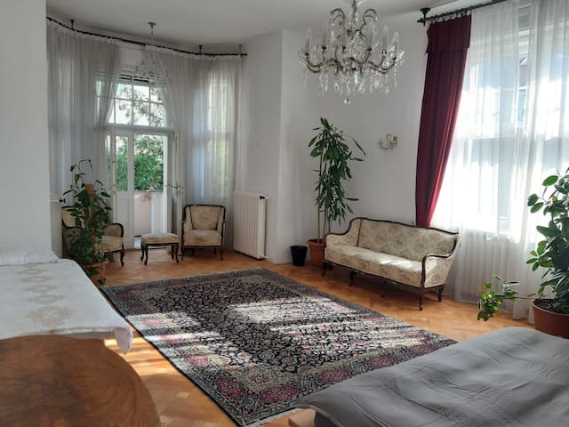 Large Villa Room with Garden Balcony