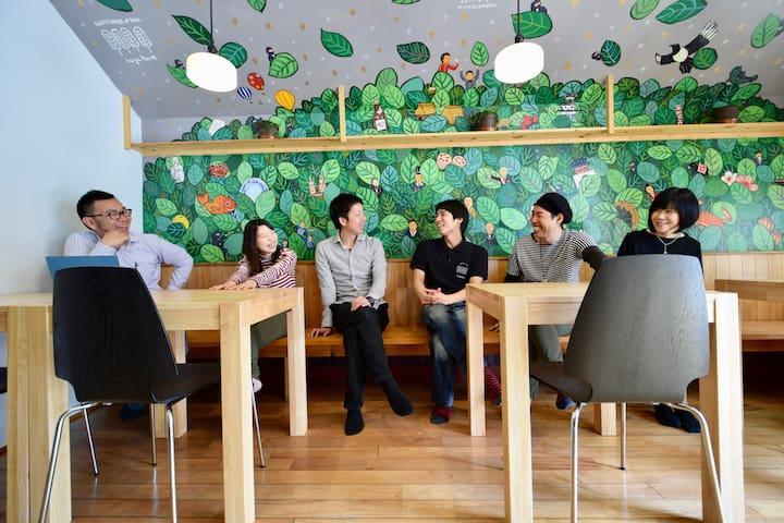佐賀インターナショナルゲストハウスHAGAKURE 2段ベッド ミックスドミトリー - Saga-shi - Gjestehus