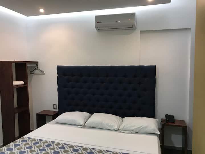 HABITACION KING SIZE 2. HOTEL PLAZA AMALIA.