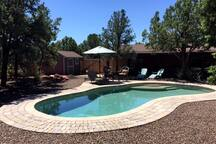 New Solar Heated Pool